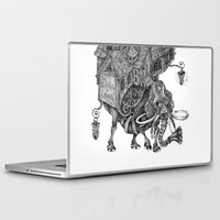 library Laptop & iPad Skins featuring the wandering library 2 by vasodelirium