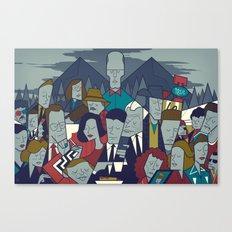 Twin Peaks (variant) Canvas Print