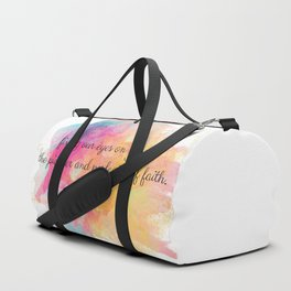 Perfecter of Faith, Scripture Tote Bag Duffle Bag