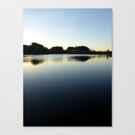 Indian summer sunset at the fishing lake V | waterscape photography Canvas Print