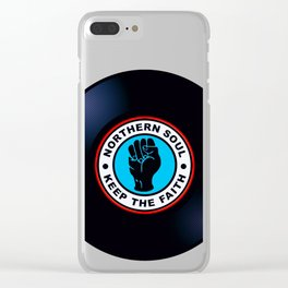 Northern Soul Vinyl Clear iPhone Case