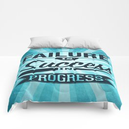 Failure Is The Condiment Inspirational Motivational Quote Design Comforters