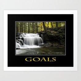 Inspirational Goals Art Print