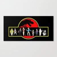 jurassic park Canvas Prints featuring Jurassic Park by Matt Pikarsky