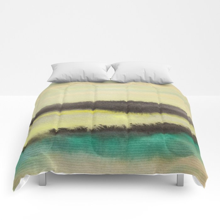Watercolor abstract landscape 02 Comforters