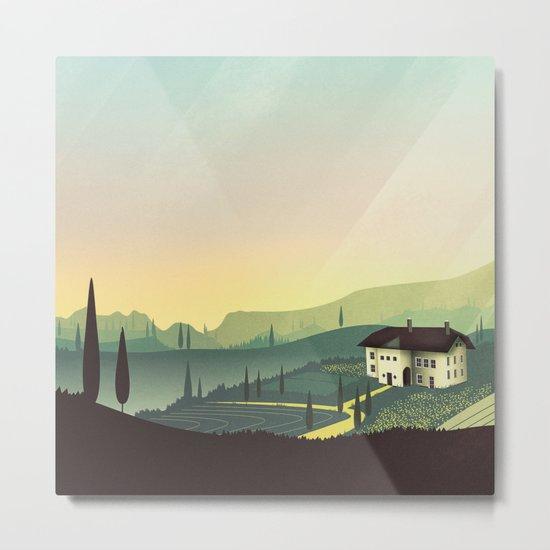 Tuscany Fairytale Metal Print