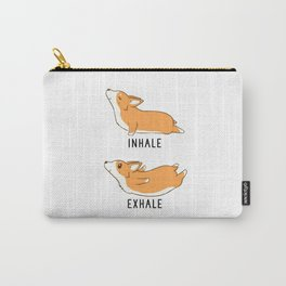 Inhale Exhale Yoga Corgi Carry-All Pouch