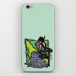 Overdressed and Overeducated iPhone Skin