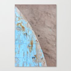Turquoise Beach Wood I Canvas Print