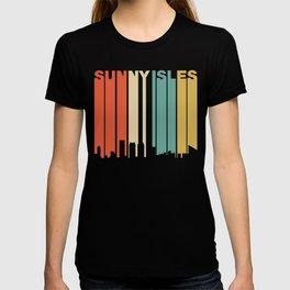 Retro 1970's Style Sunny Isles Beach Florida Skyline T-shirt