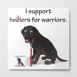 Lab Supports Healers For Warriors Metal Print