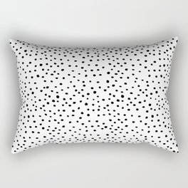 Brush Dots Rectangular Pillow