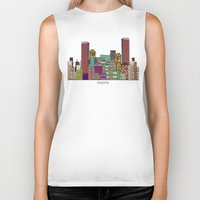 hotline miami Biker Tanks featuring Miami by bri.buckley
