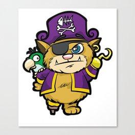 PURRATES Pirate Cat Buccaneer Sea Robber Comic Canvas Print
