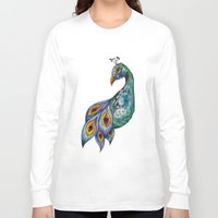 peacock Long Sleeve T-shirts featuring Peacock by SilviaGancheva