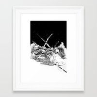 cars Framed Art Prints featuring Cars by Andreas Derebucha