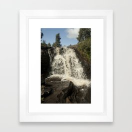 Waterfall - Scotland Framed Art Print
