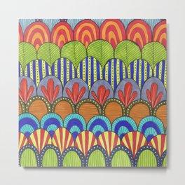 bright scalloped pattern Metal Print