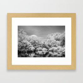 Gapstow Bridge, Central Park in Infrared Framed Art Print