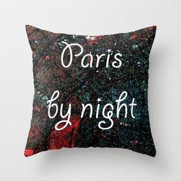Paris by night colors couette urban fashion culture Jacob's 1968 Paris Agency Throw Pillow