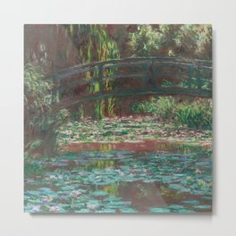 Water Lily Pond by Claude Monet, 1900 Metal Print