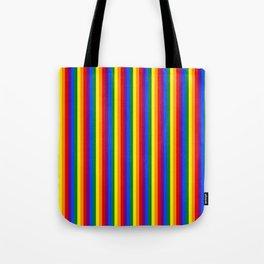Mini Verticle Gay Pride Rainbow Beach Stripes Tote Bag