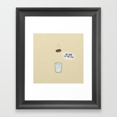 a biscuit's journey Framed Art Print