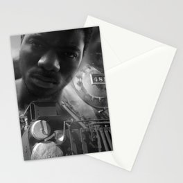Man and the train Stationery Cards