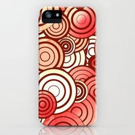 Layered random circles iPhone Case