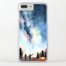 Galaxy Artwork Clear iPhone Case