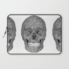 Skull and Spirals - WHITE Laptop Sleeve