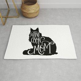 Maine Coon Mom Cat Lover Rug
