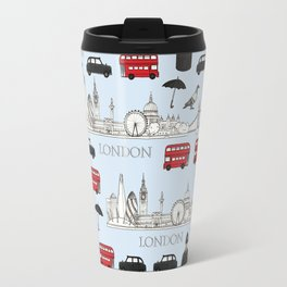London Skyline and Icons Travel Mug