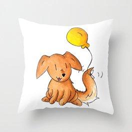 Balloon Doggy Throw Pillow