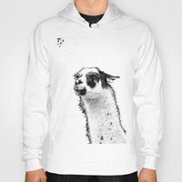lama Hoodies featuring Lama by art9