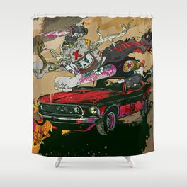 Psilopsychonaut Shower Curtain