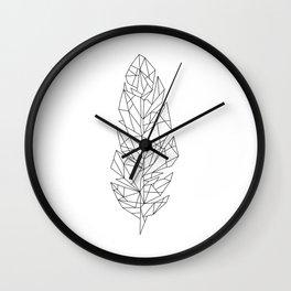 Geometric Feather Wall Clock