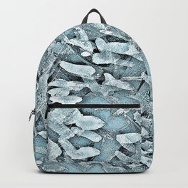 Ocean Tips Silver Blue Abstract Backpack