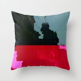 Trieste Glitch 01 Throw Pillow