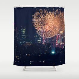 Fireworks in the City (Color) Shower Curtain