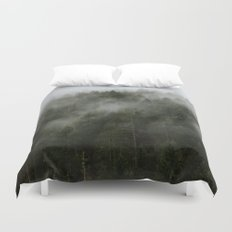 Pacific Northwest Foggy Forest Duvet Cover