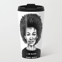 I Am Black Every Month Travel Mug