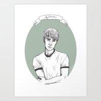finn Art Prints featuring Finn by glitterfang