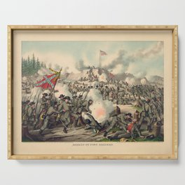 Civil War Assault on Fort Sanders Nov. 29 1863 Serving Tray