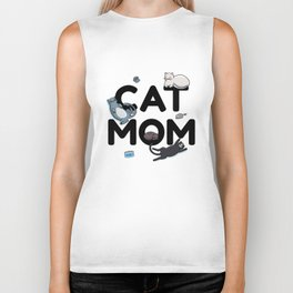 Cat Mom | Kitty Kitten Purring Feline Biker Tank