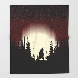 Red Forest Throw Blanket