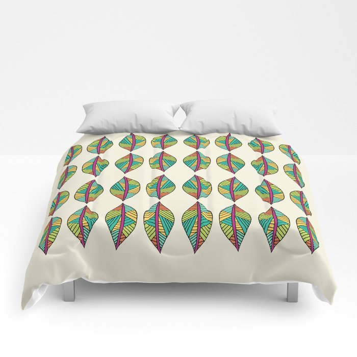 Native Leaves Comforters