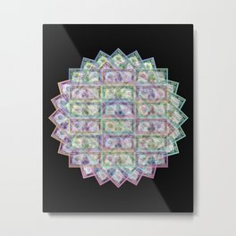 1 Billion Dollars Geometric Black Bling Cash Money Metal Print
