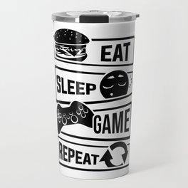 Eat Sleep Game Repeat | Video Game Console Gaming Travel Mug
