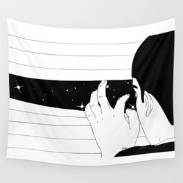 Spying on the stars Wall Tapestry